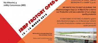 SAMP apre le porte in occasione dell'ExpoComfort MostraConvegno (13-16 Marzo 2018)